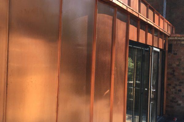 Mill Finish Copper Cladding