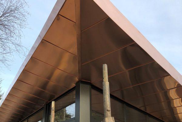 Tecu Bronze Soffit work