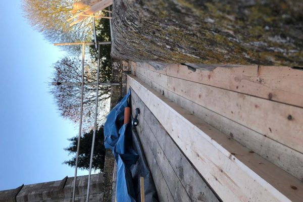 Timber-gutter-construction-completed
